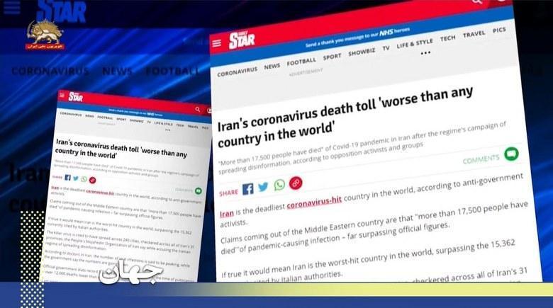 انعکاس اطلاع رژیم ایران مدتها پیش از شیوع #کرونا بر اساس اسناد شورای ملی مقاومت در رسانه های جهان
