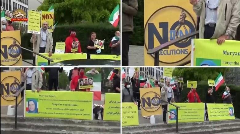 تظاهرات در بلژیک علیه احکام اعدام برای زندانیان قیام آبان