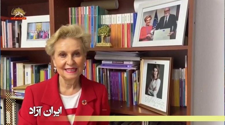 سناتور کارمن کینتانیا باربا از اسپانیا: من میخواهم در کنار مریم رجوی باشم